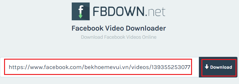 tai video tu facebook bang fbdown