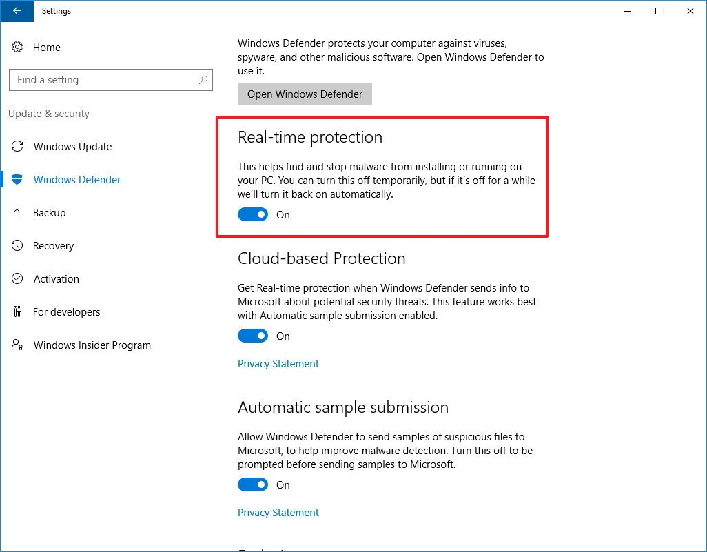 cach tat Windows Defender tam thoi 3