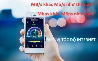 Sự khác nhau giữa Mbps và MBps