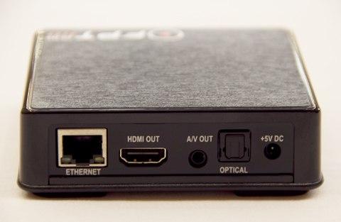 Mặt sau FPT Play HD có các cổng kết nối: Internet, HDMI, AV, nguồn
