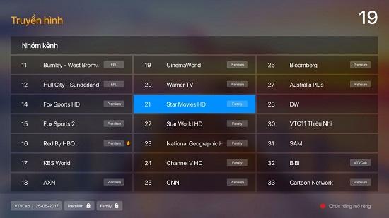 Hướng dẫn mua các gói kênh trên FPT Play Box